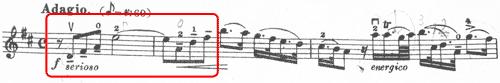 ヘンデル バイオリンソナタ4番1楽章1