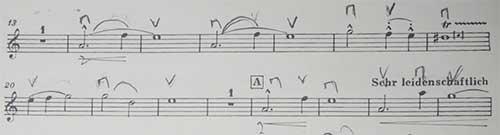 マーラー ピアノ四重奏曲1楽章 出だしの弾き方