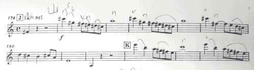 マーラー ピアノ四重奏曲1楽章 最後のページ