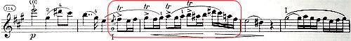 ローデ 協奏曲第7番 アクセントとトリル